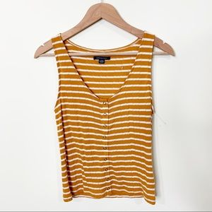 NWOT American Eagle Yellow/Orange Striped Tank Top